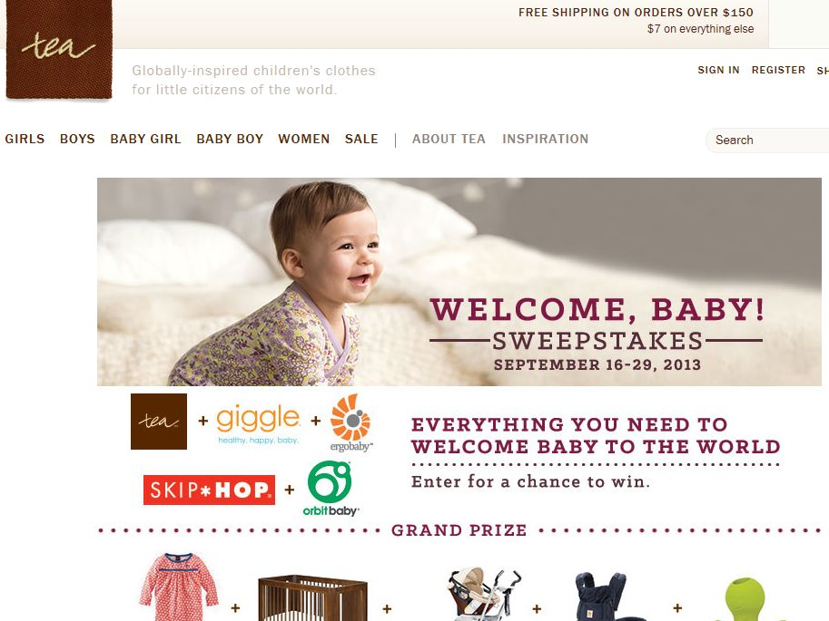 Tea Collection Welcome Baby Sweepstakes