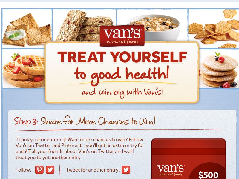 Treat Yourself to Good Health Instant Win Sweepstakes