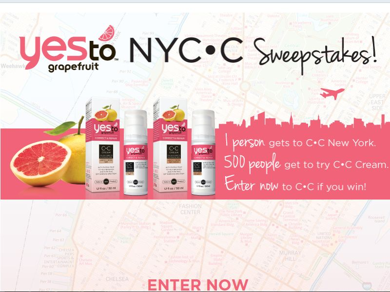Yes To's NYCC Sweepstakes