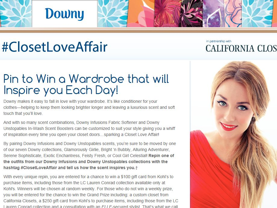 "Downy's ""Closet Love Affair"" Pinterest Sweepstakes"