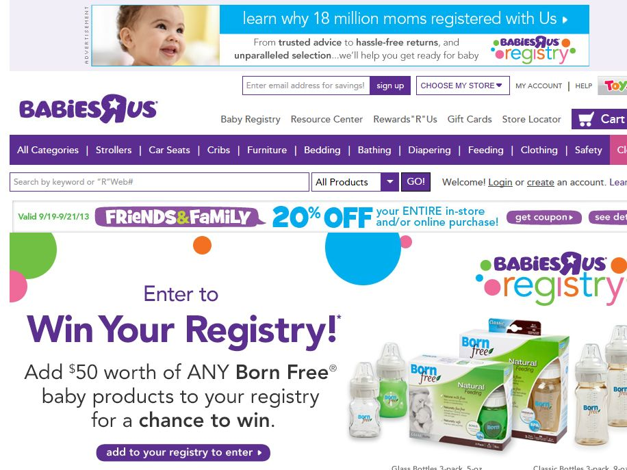 Babies R Us Born Free Registry Sweepstakes