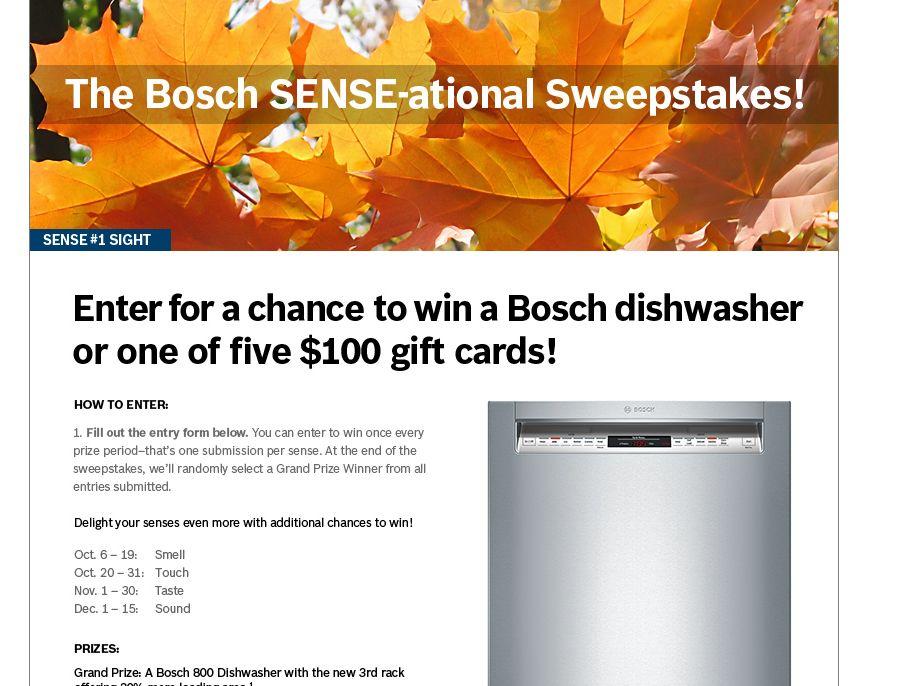 BOSCH SENSE-ATIONAL Sweepstakes