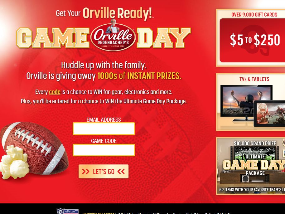 Get Your Orville Ready Sweepstakes