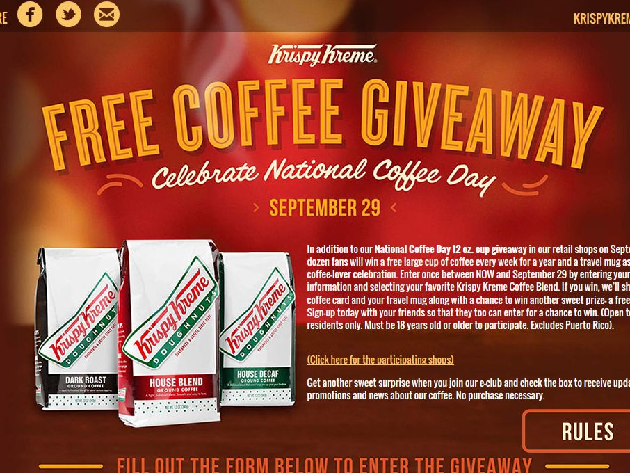 National Coffee Day Sweepstakes