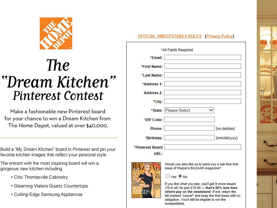 Dream Kitchen Pinterest Contest