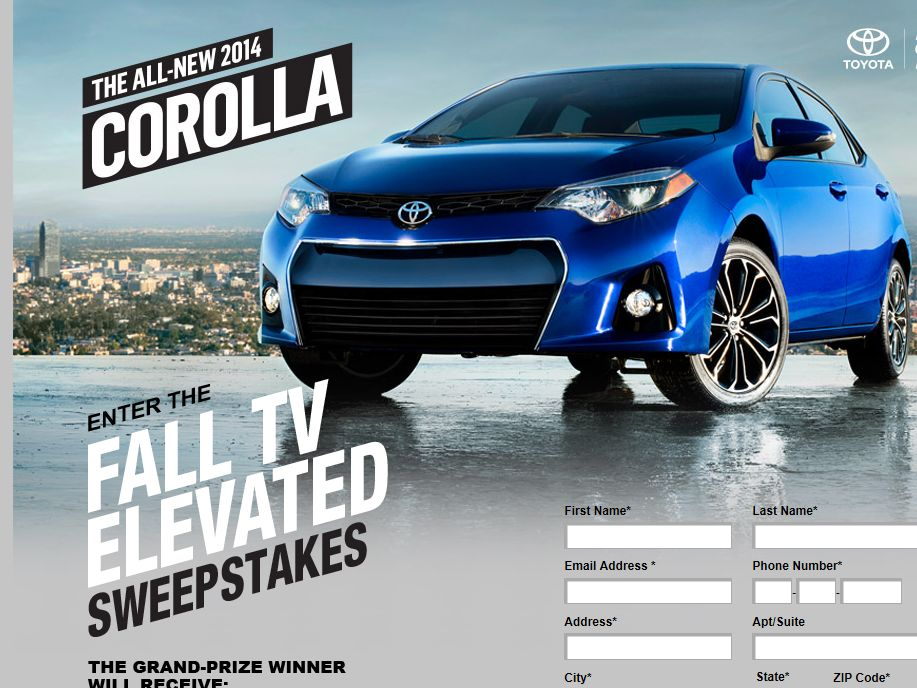Fall TV Elevated Sweepstakes