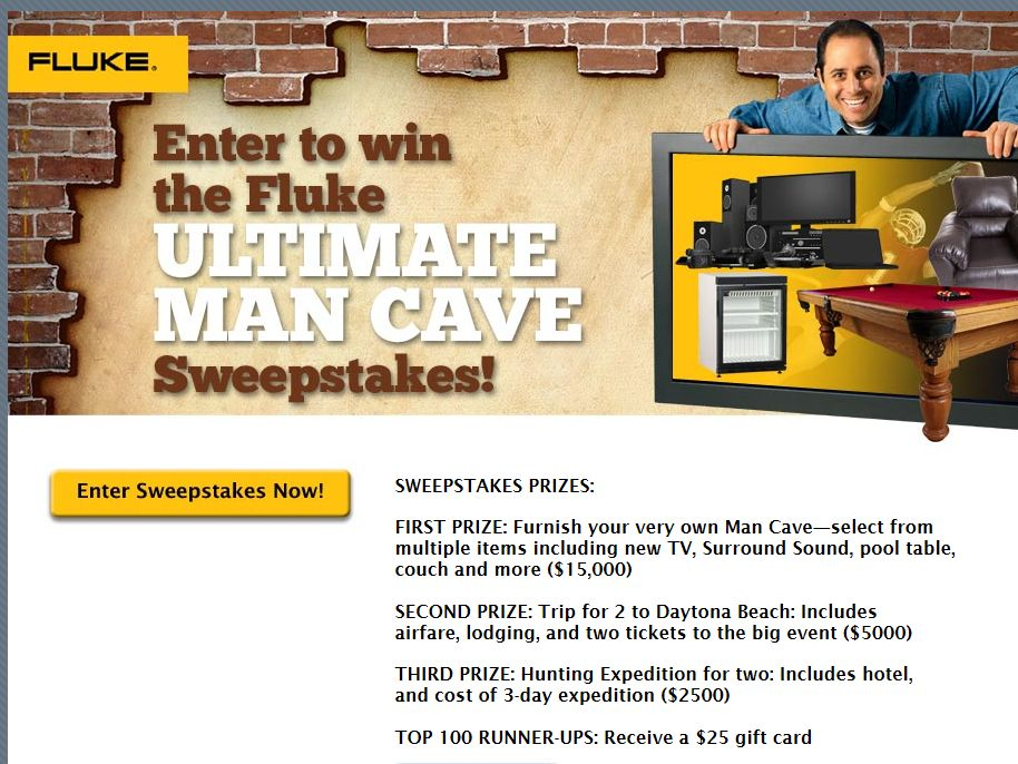 "Fluke Electronics ""Man Cave"" Sweepstakes"