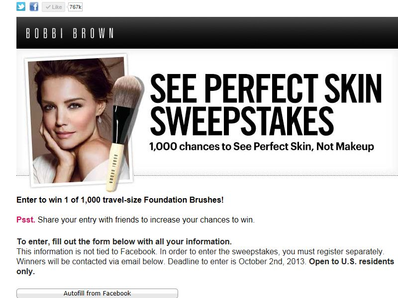Bobbi Brown's See Perfect Skin Sweepstakes