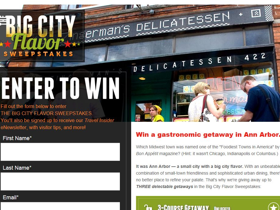 Big City Flavor Instant Win Sweepstakes