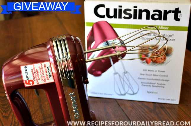 Cuisinart 5-Speed Hand Mixer Giveaway
