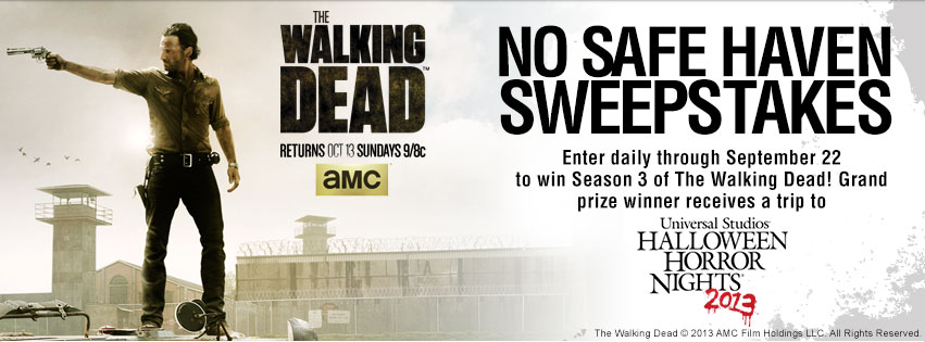 The Walking Dead No Safe Haven Sweepstakes