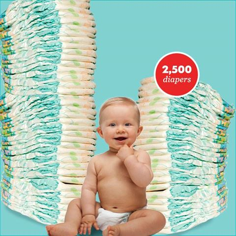 Diapers for a Year (2,500 Diapers) 10/30