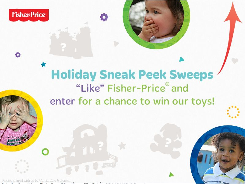 Fisher-Price Holiday Sneak Peek Sweepstakes