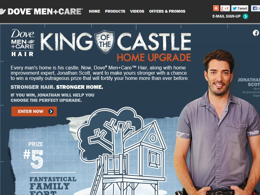 Dove Men + Care King of the Castle Home Upgrade Contest