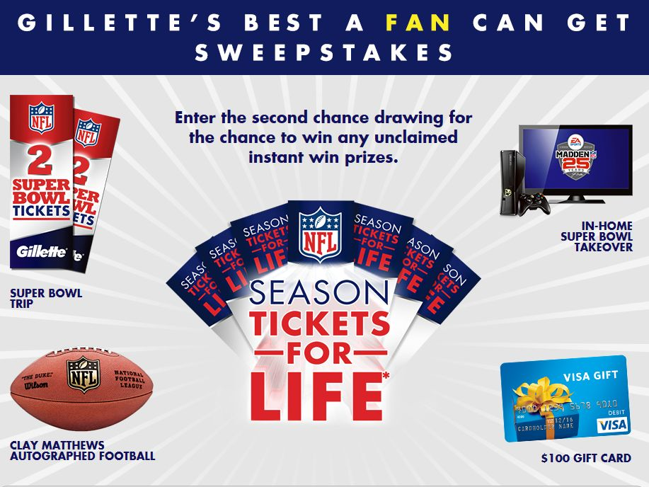 """Gillette """"The Best a Fan Can Get"""" Sweepstakes"""