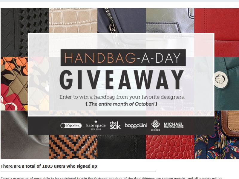 Handbag A Day Giveaway