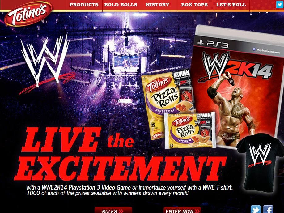 Totino's WWE2K14 Sweepstakes