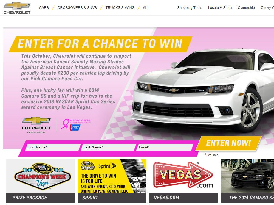 Win the 2014 Camaro SS Sweepstakes