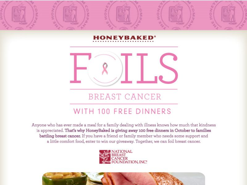 HoneyBaked Foils Breast Cancer Giveaway