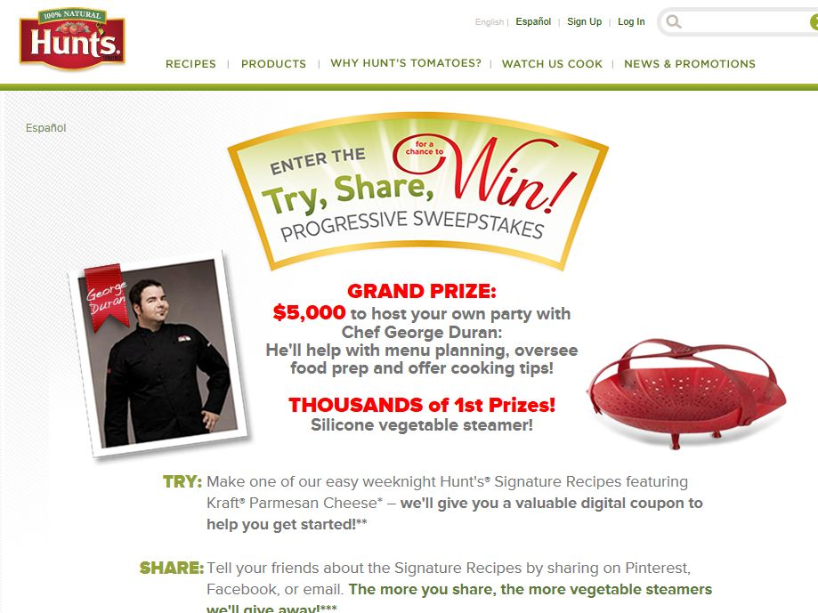 Try & Share Progressive Sweepstakes