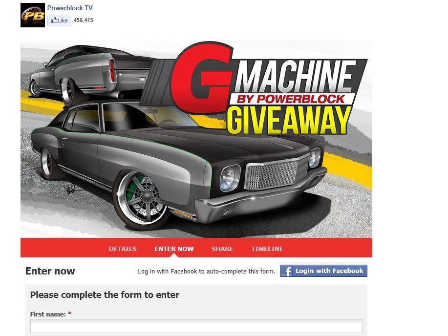G Machine By PowerBlock Giveaway