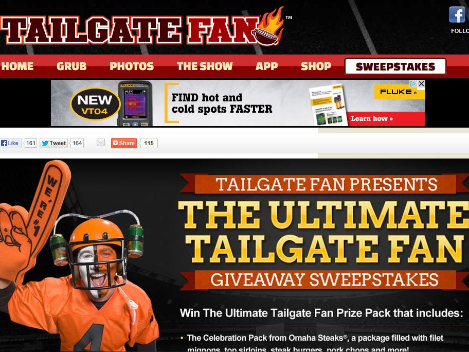 Ultimate Tailgate Fan Giveaway Sweepstakes