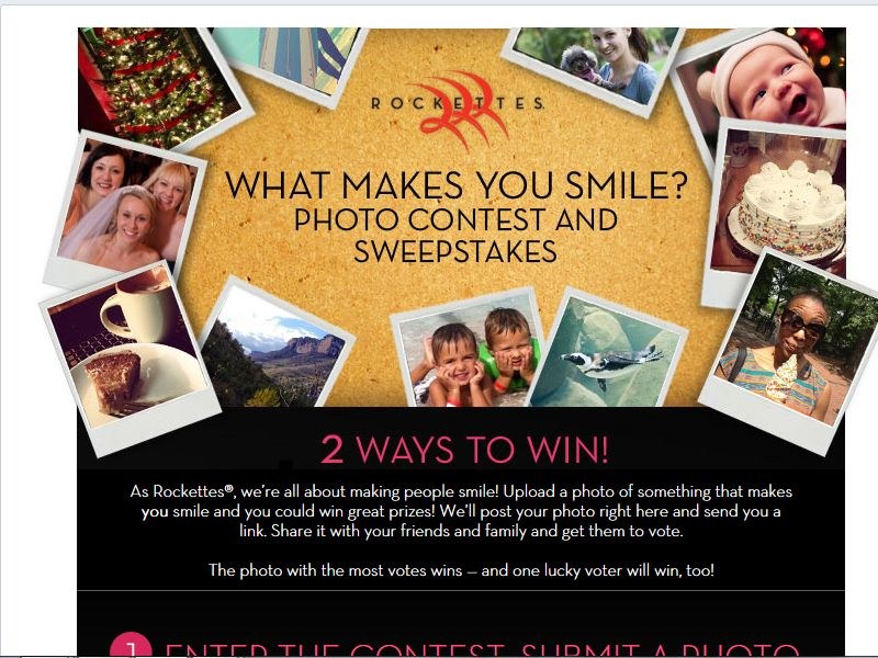 Rockettes What Makes You Smile? Photo Contest and Sweepstakes