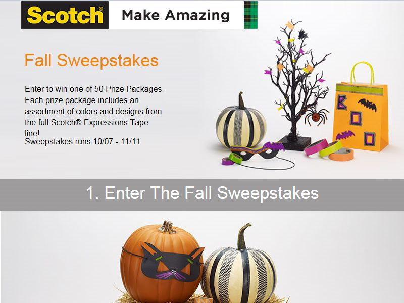 Scotch Make Amazing Fall Sweepstakes
