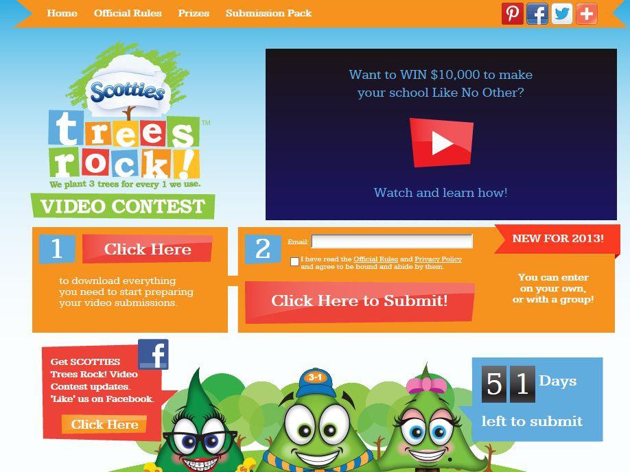 Scotties Trees Rock Video Contest