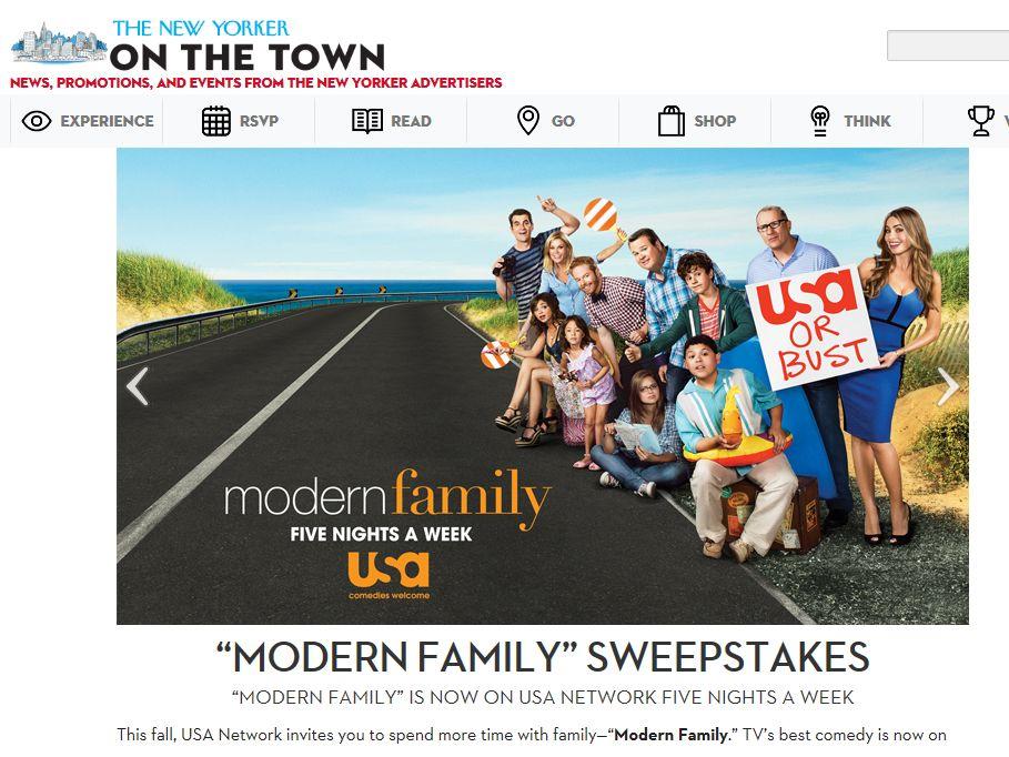 Modern Family Sweepstakes