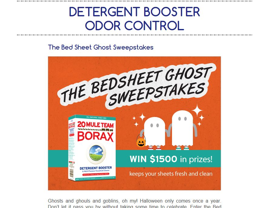 The Bed Sheet Ghost Sweepstakes