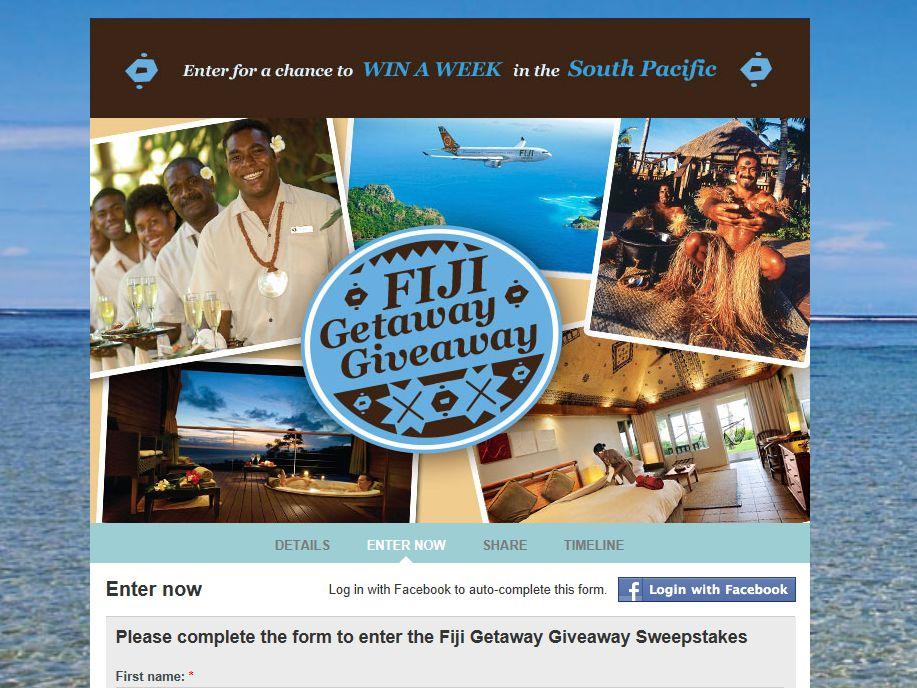 Outrigger Fiji Getaway Giveaway Sweepstakes
