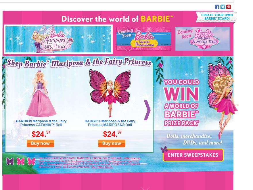 The Barbie Sweepstakes