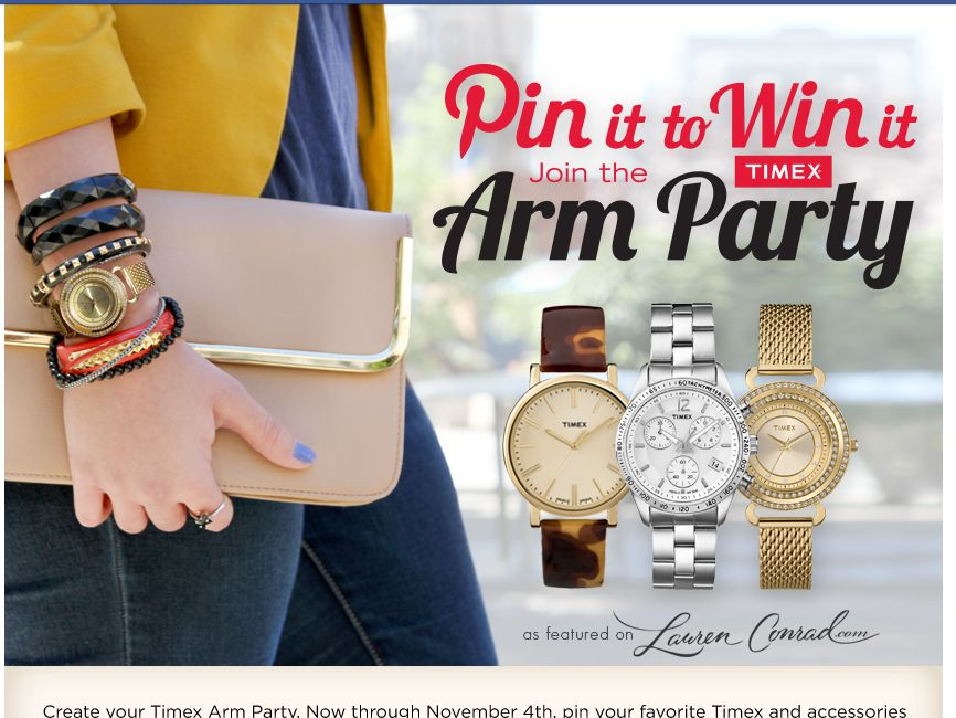 Timex Pin It To Win It Pinterest Sweepstakes