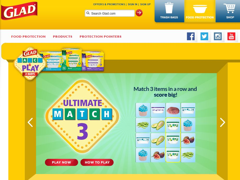 GLAD Match and Play 3 Ways Sweepstakes