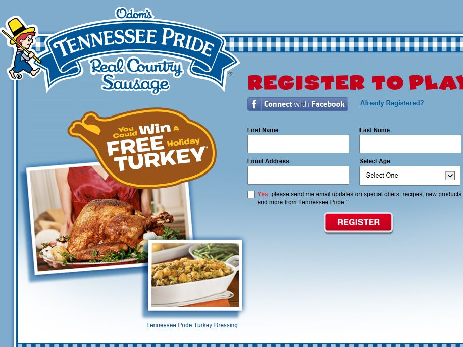 Odom's Tennessee Pride Gobble Instant Win Sweepstakes