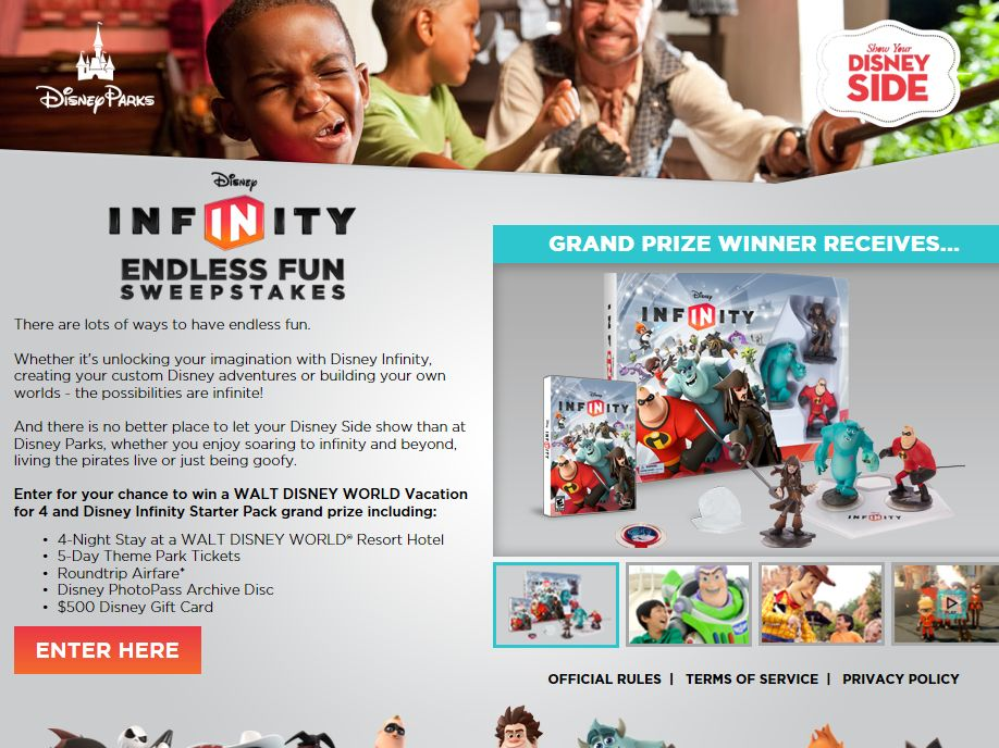 Disney Infinity Endless Fun Sweepstakes