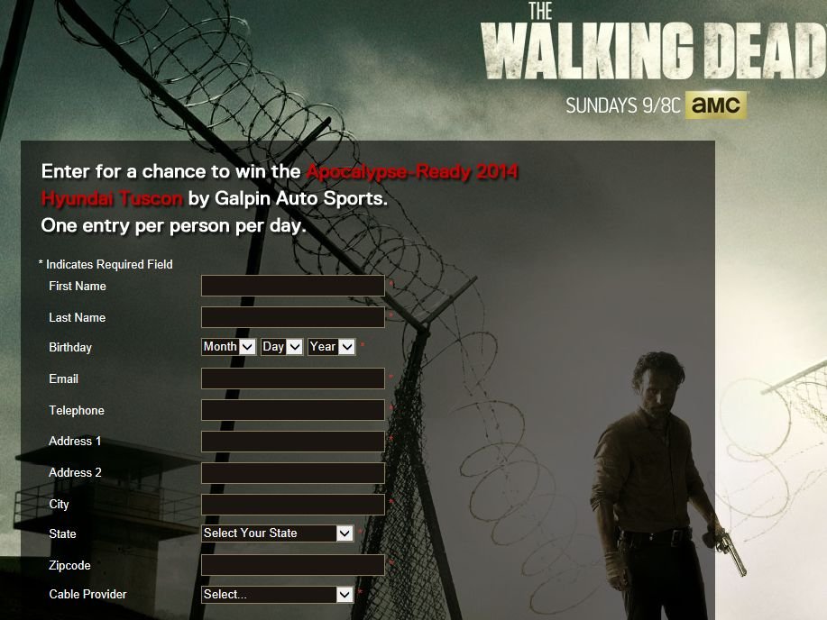 """The Walking Dead """"Survive and Drive"""" Sweepstakes"""