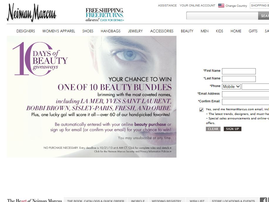 10 Days of Beauty Sweepstakes