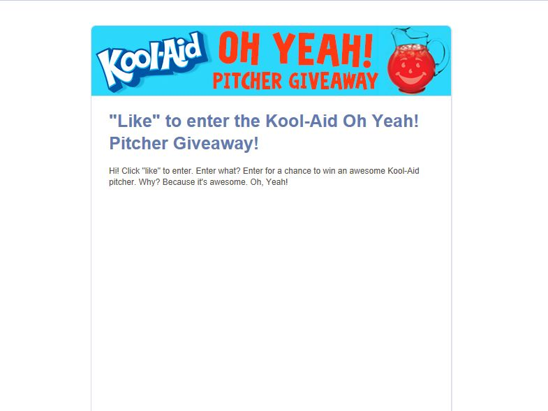 Kool-Aid Oh Yeah! Pitcher Giveaway Sweepstakes
