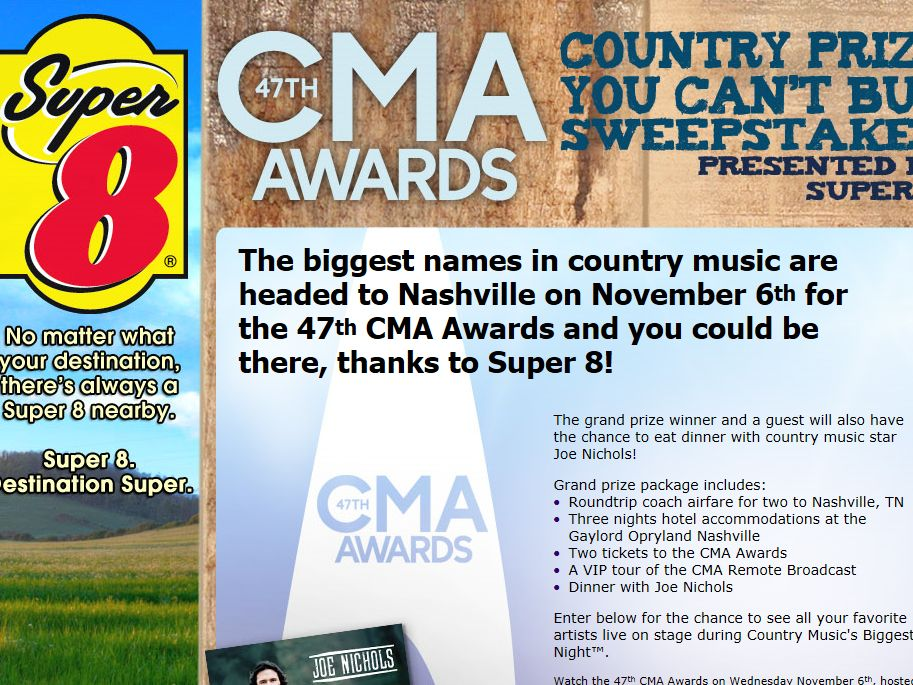 CMA Awards Country Prize You Can't Buy Sweepstakes