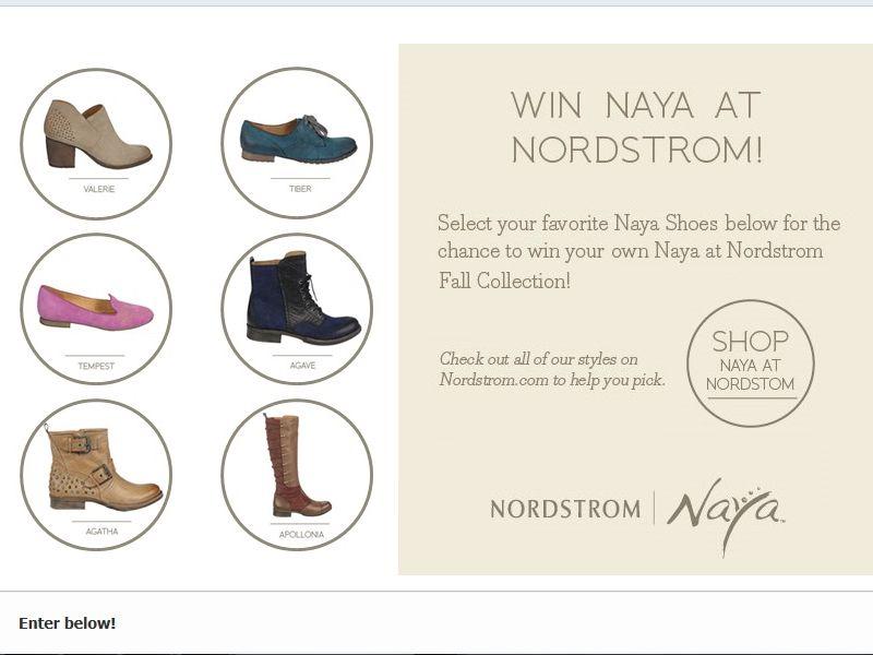 Win Naya at Nordstrom Sweepstakes