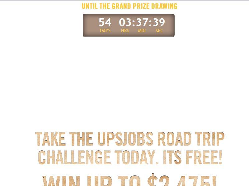 UPSjobs Roadtrip Challenge III Sweepstakes