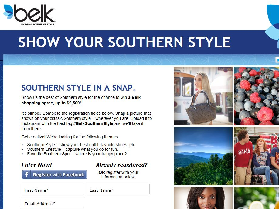 Show Your Southern Style Sweepstakes