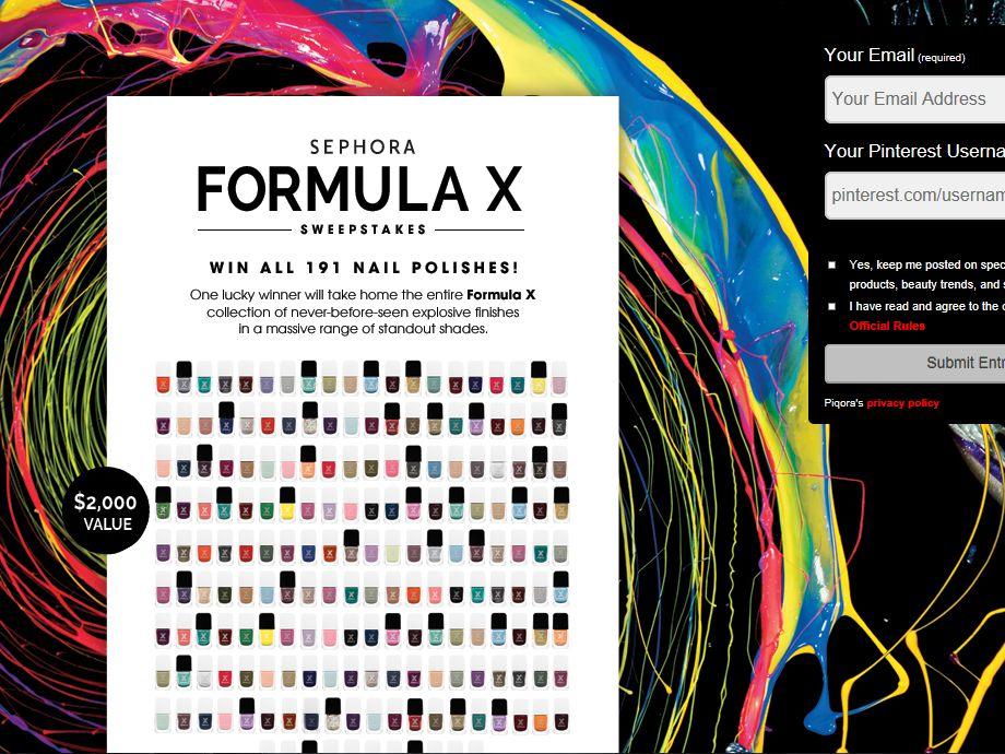 Sephora Formula X Sweepstakes