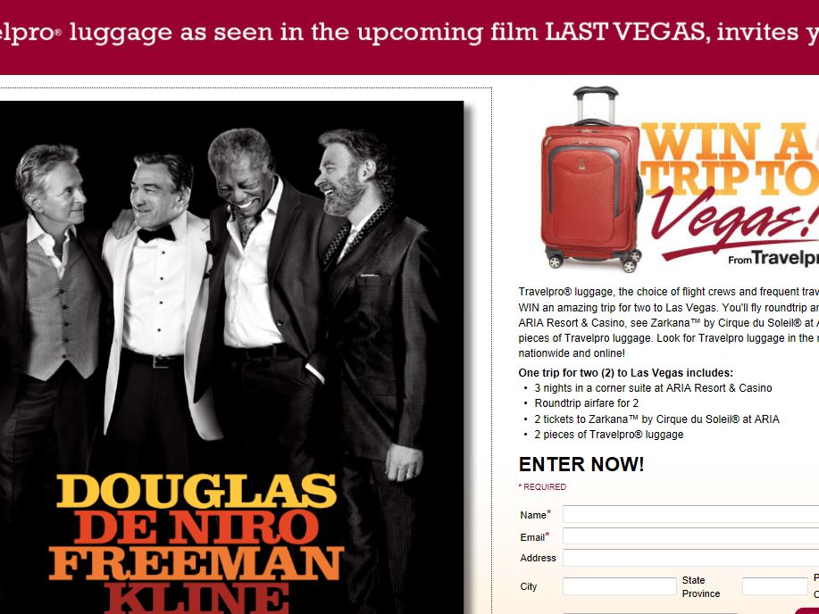 Travelpro Trip To Vegas Sweepstakes