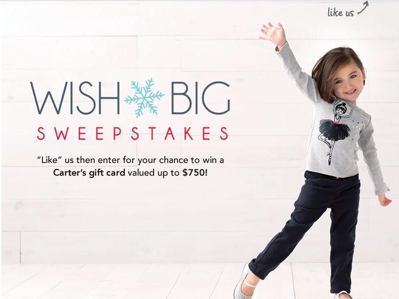 Carter's Wish Big Sweepstakes