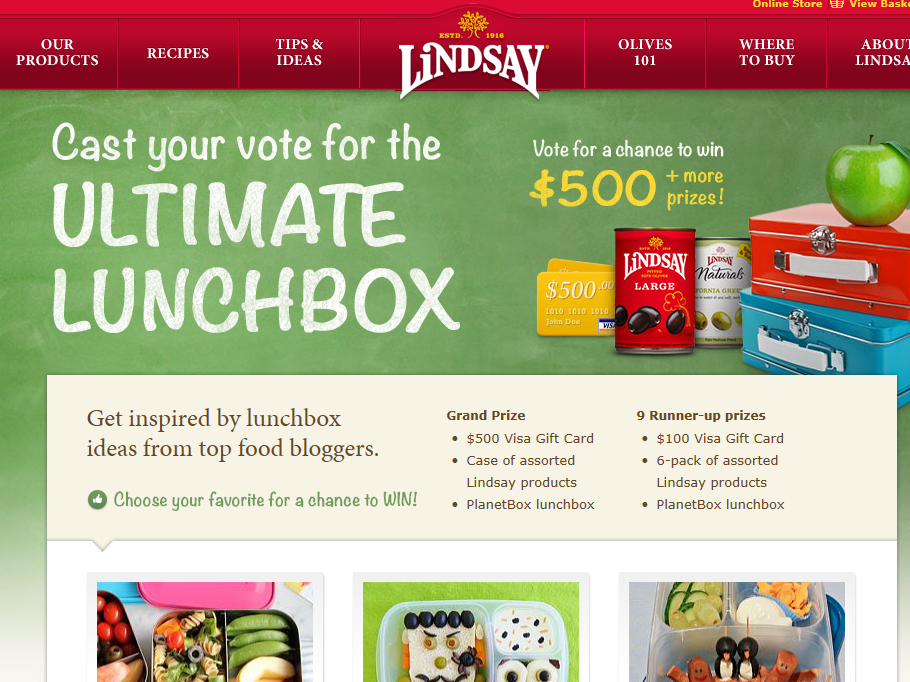 """Lindsay """"Ultimate Lunchbox"""" Contest"""