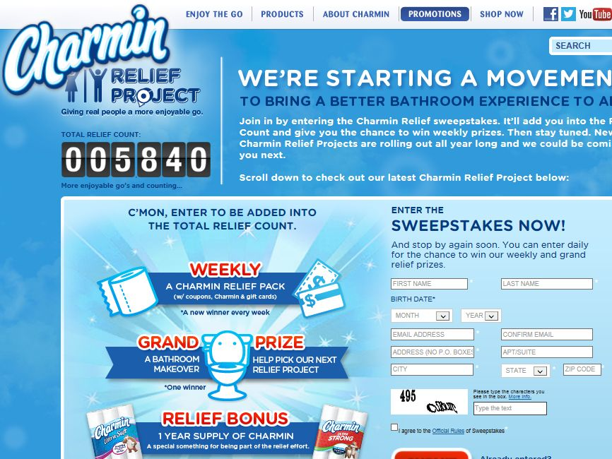 Charmin Relief Project Sweepstakes