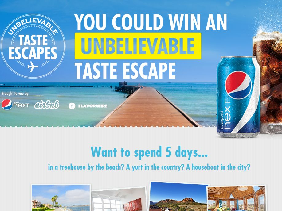 Unbelievable Taste Escapes Sweepstakes